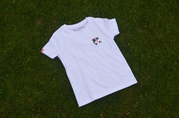 Shirt vis in de leie wit
